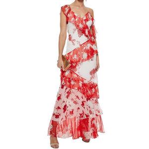 NWT ALICE + OLIVIA floral-print Silk maxi dress  4